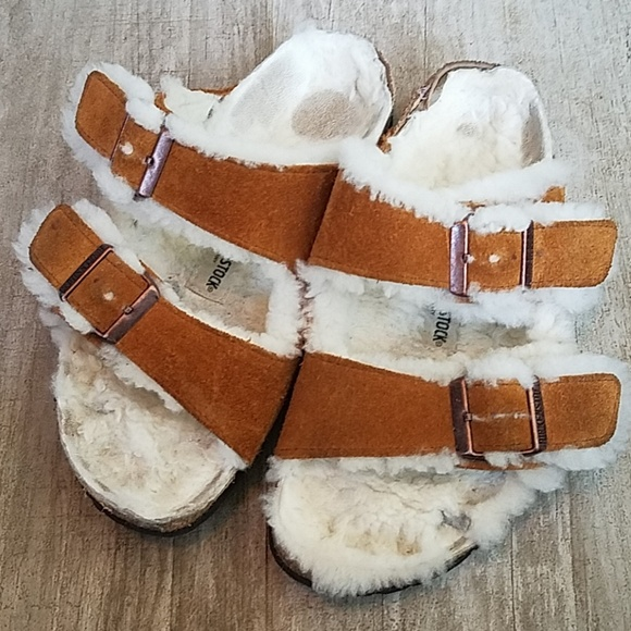 Birkenstock Arizona Suede Furry Size 36